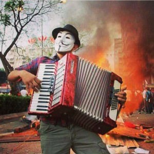 Anonymous Accordion Player during Turkey protests (X-post from ranonymous) - Imgur
