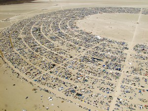 burning man - ordered chaos